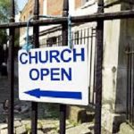 List of open/not open/online churches