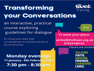 """Transforming your Conversations"" course with Ulrike from The Feast"