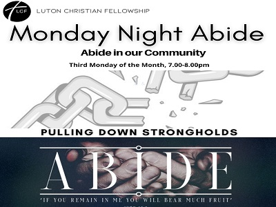 Abide in our comunity prayers with LCF  Third  Monday of each month   7 pm – 8 pm except bank holidays