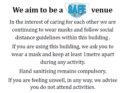 We aim to be a safe venue poster